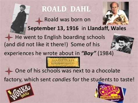 roald dahl biography for students roald dahl bio ppt