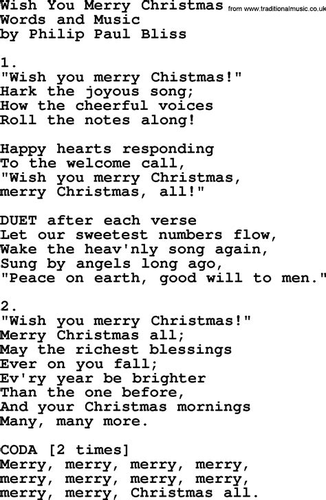 wish song merry to you lyrics holliday