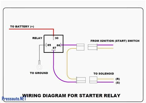 wiring schematic for 12 volt relay circuit and