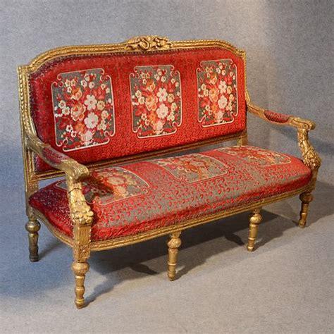 boudoir sofa antique french gilt frame settee salon boudoir sofa couch