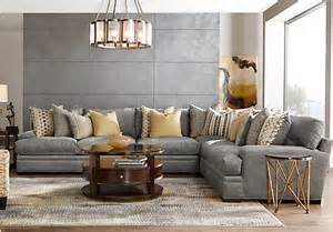 Pillow Cushions For Sofa Cindy Crawford Home Palm Springs Gray 4 Pc Sectional