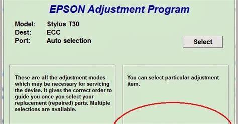 resetter epson stylus office t30 como resetear la impresora epson stylus office t30 es