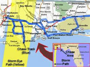 florida alabama map alabama and florida panhandle map ivan interception