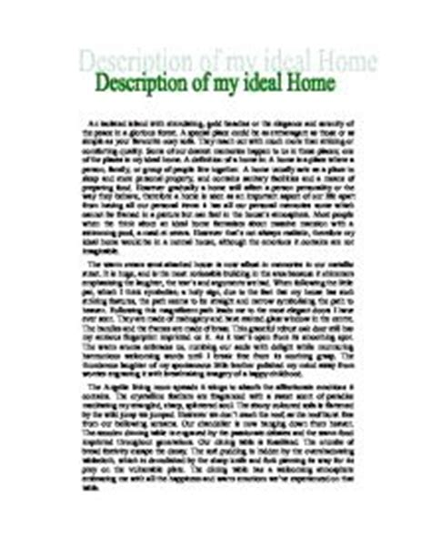 house and home essay my ideal house gcse english marked by teachers com