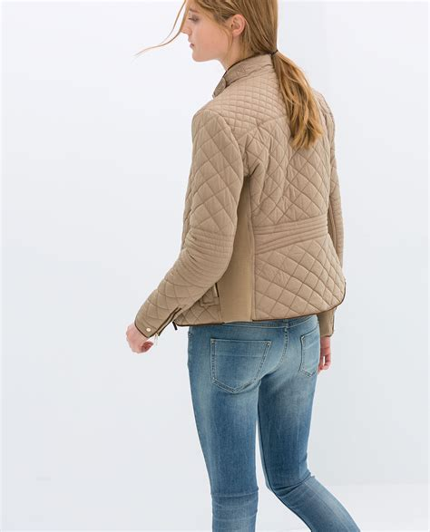 Quilted Jacket Zara by Zara Combination Quilted Jacket In Lyst