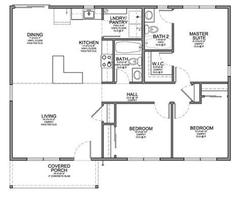 floor plan for affordable 1 100 sf house with 3 bedrooms
