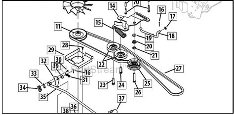 cub cadet ltx 1045 parts diagram transmission belt fan replacement cub cadet ltx1045 9