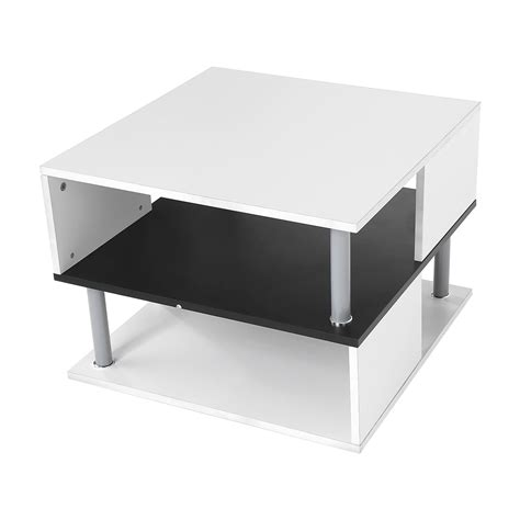 sofa side table storage 2 tier side end coffee table storage shelves sofa couch