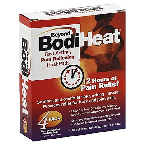 heating pad bed bath and beyond buy beyond bodi heat 4 pack disposable heat pads from bed