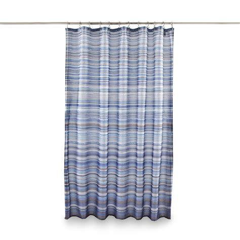 shower curtains kmart essential home fabric shower curtain ombre pencil stripe