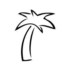 Palm Tree Outline by Custom Clipart Palm Tree Outline Personalized Drinkware Www Personalizeddrinkware