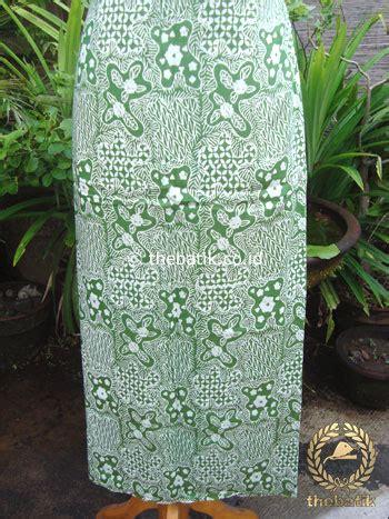 jual kain batik katun jepang motif sekarjagad hijau