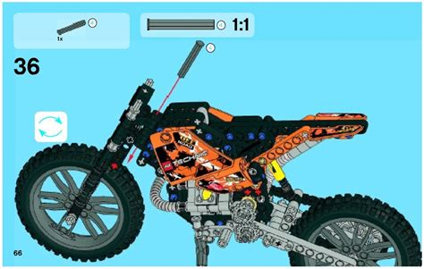 technic motocross bike moto cross bike instructions 42007 technic
