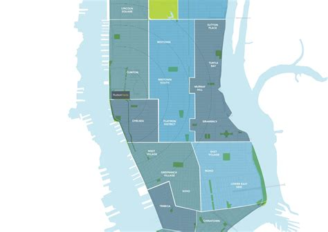 manhattan sections map modern cabinet hudson yards new neighborhood for west