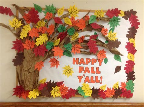 fall bulletin board decorations my fall bulletin board at the nursing home work