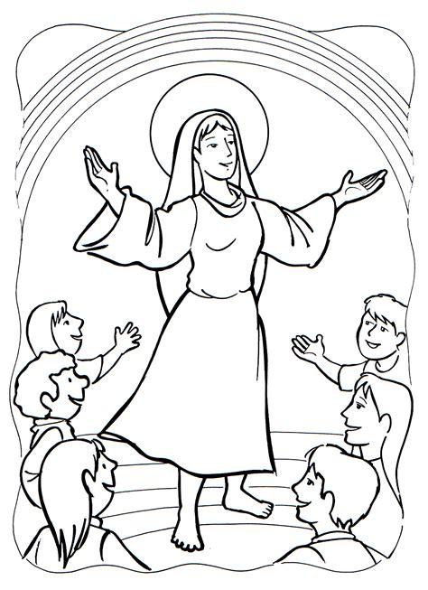 imagenes de la virgen maria para niños para colorear ni 241 os para la iglesia colouring pages
