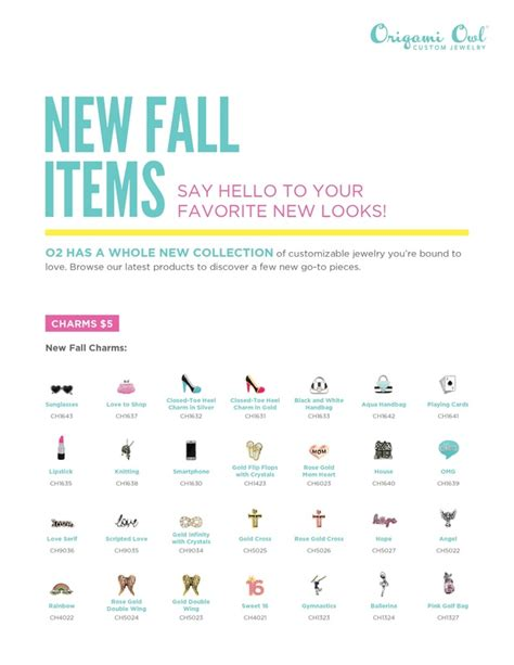 Origami Owl New Catalog - origami owl 174 launches new products catalog for fall