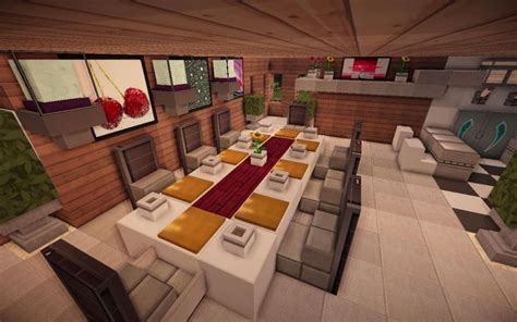 Dining Table In Minecraft Jade Modern Minecraft Kitchen Table Minecraft