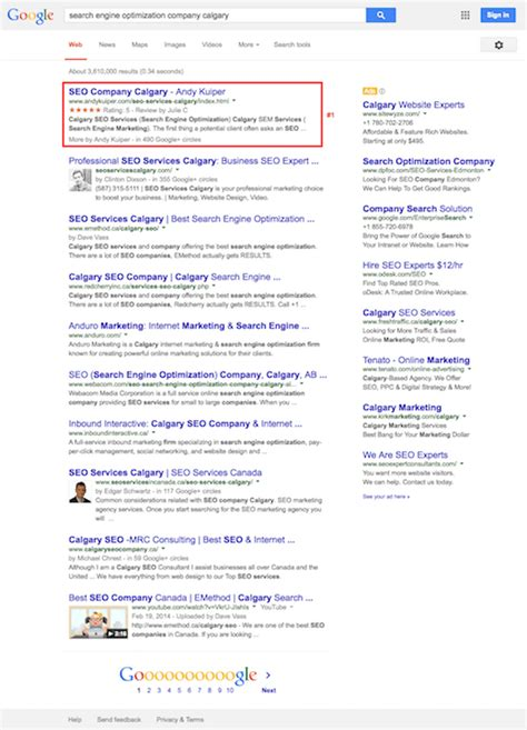 Search Optimization Companies 2 by Calgary Seo Services Andy Kuiper Certified Search