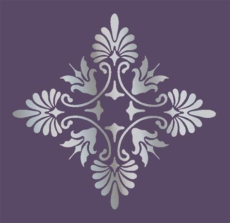 printable mural templates large wall damask stencil pattern faux mural 1017 ebay