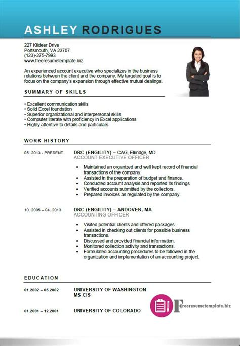 resume templates for account executives account executive resume template free resume