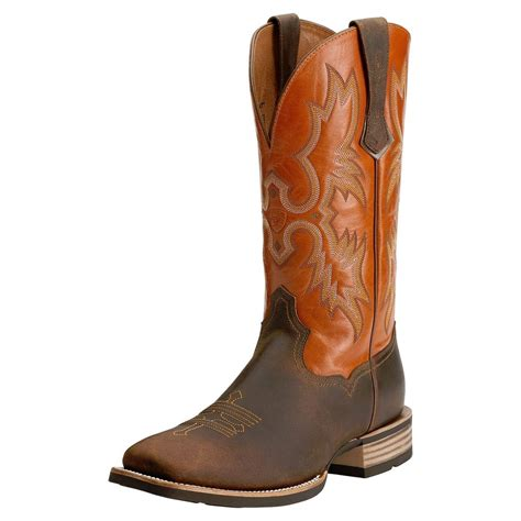 toe boots mens ariat mens tombstone square toe western cowboy boot