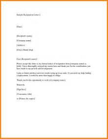 5 resignation letter sle sg handy resume