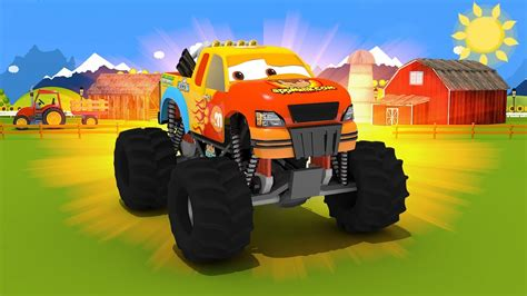 monster trucks video for kids appmink build a monster truck educational video for