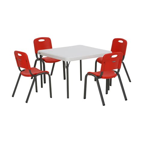 lifetime tables and chairs lifetime 5 and white children s table and chair
