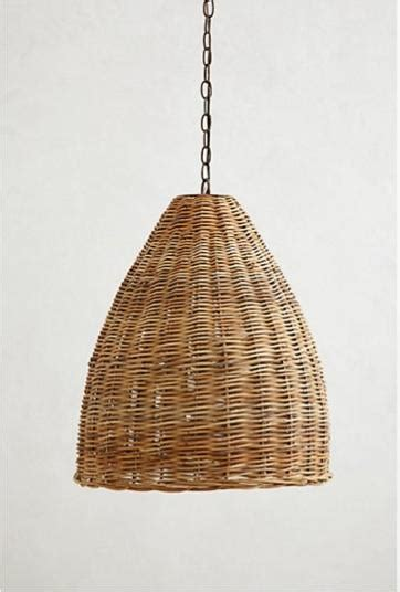 Wicker Pendant Lights High Low A Trio Of Woven Wicker Pendant Lights Remodelista
