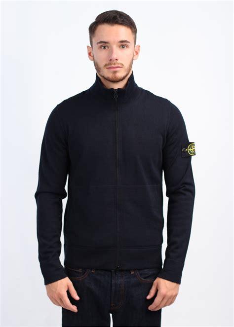 Sweater Hoodie Jumper Navy island zip knitwear navy