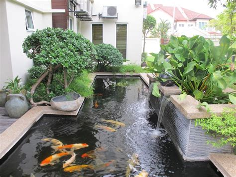 Pond Decor by Modern Patio With Fish Pond Exterior Design 4 Home Decor