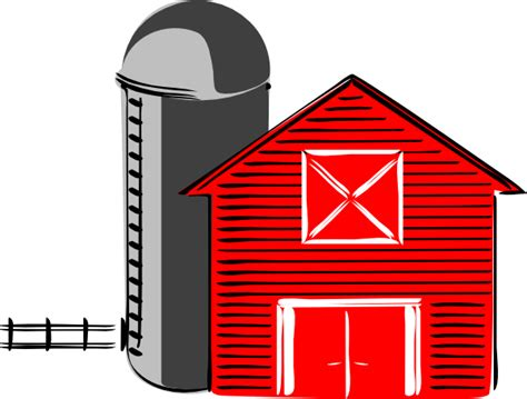 Barn And Silo Clipart barn silhouette barn clipart the cliparts