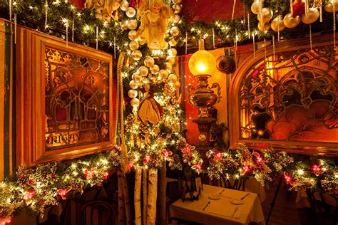 christmas decoration around nyc the lens inside the that is rolf s german restaurant 6sqft