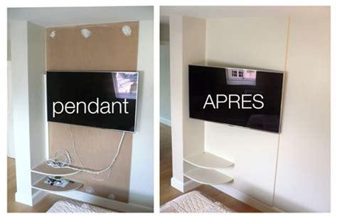 Accrocher Tv Mur Sans Voir Fils by Comment Cacher Les Fils De La Tv Accroch 233 E Au Mur
