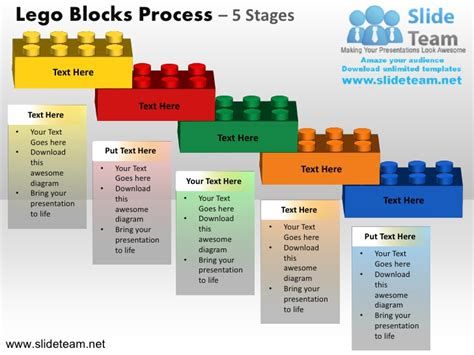 Lego Cubes Building Blocks Stacked Building Blocks Logical Process 5 Building Blocks Template