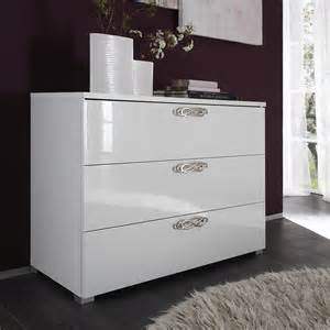 commode 3 tiroirs design blanche infinity zd1 comod a d
