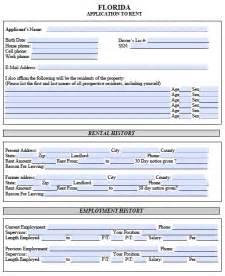 rental lease application template free florida rental application pdf template