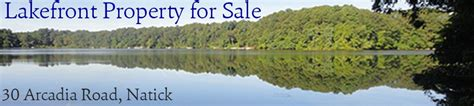 boating in boston lake cochituate lakefront property for sale 30 arcadia road natick ma