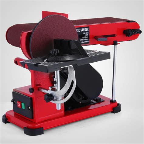 bench top belt sander 375w bench belt and disc sander grinder aluminum frame