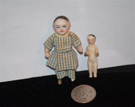 antique frozen dolls antique doll two dolls frozen w wispy bisque