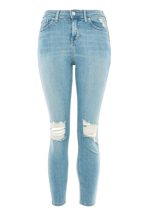 Id 1534 Ripped Denim moto authentic ripped topshop usa