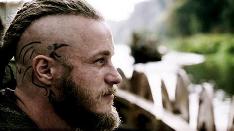 ragnar head tattoos vikings the story the lead characters awesome