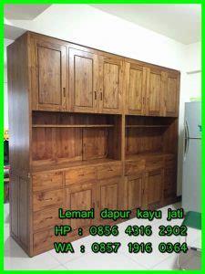 Lemari Kayu Akasia lemari dapur kayu jati lemari dapur gantung kayu jati harga lemari dapur kayu jati