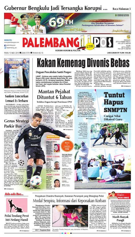 Lemari Es Di Palembang palembang pos edisi rabu 13 mei 2015 by palembang pos issuu