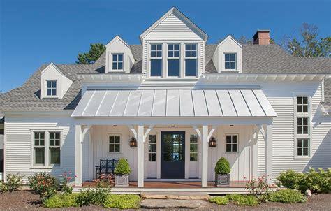 Limestone Benches Portland Maine Front Porch Columns Exterior Farmhouse With