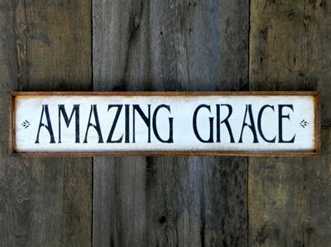 Handmade Wood Signs Rustic - amazing grace sign signs and sayings handmade wood signs