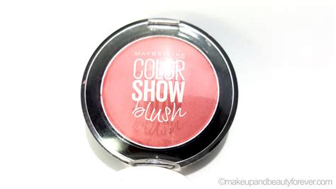 Maybelline Colour Show Blush On maybelline color show blush peachy sweetie review swatches