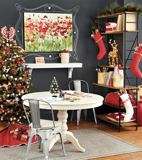 stylish home office christmas decoration ideas