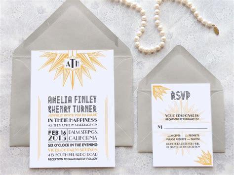 1920s style wedding invitations deco blanc starburst deco wedding invitations